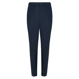 Navy Irish Linen Signature Trousers