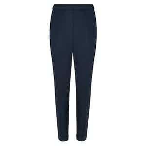 Navy Irish Linen Signature Trousers
