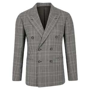Grey Prince of Wales Double Breasted Suit