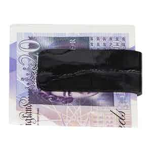 Black Alligator Money Clip