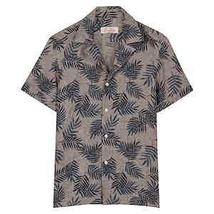Brown Palm Hawaiian Shirt