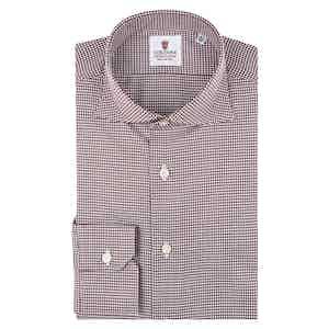 Bordeaux Cotton Piedi De Poule Shirt