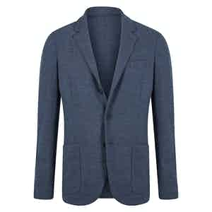 Merino Wool Denim Blue Unconstructed Jacket