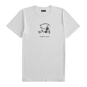 White Raw Cotton Tempus Fugit T-Shirt
