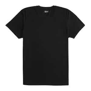 Black Cotton Plain T-Shirt