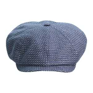 Blue Brooklyn Newsboy Cap