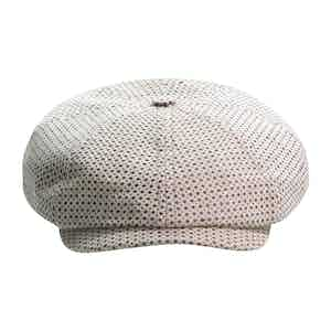 Beige Brooklyn Newsboy Cap