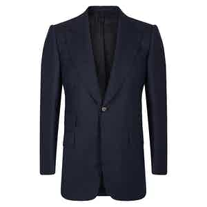 Navy VBC Wool POW check Suit Jacket