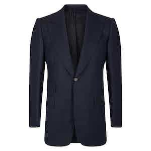 Navy VBC Wool POW check Suit Jacket