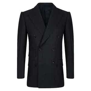 Green VBC Check Double-Breasted Suit Jacket