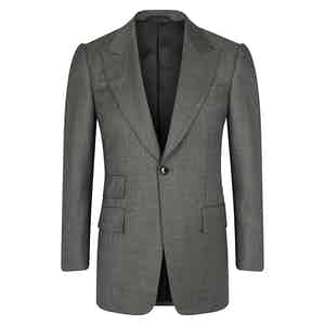 Light Grey VBC Single-Breasted Wedding Suit Jacket