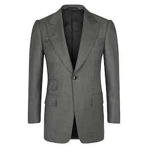 Light Grey VBC Single-Breasted Wedding Suit Jacket