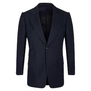 Navy VBC Single-Breasted Wedding Suit Jacket
