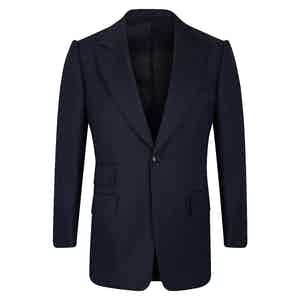 Navy VBC Single-Breasted Wedding Suit Jacket