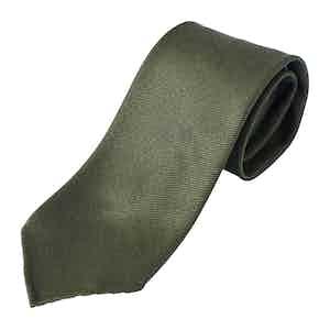 Green Cavalry Twill Tie