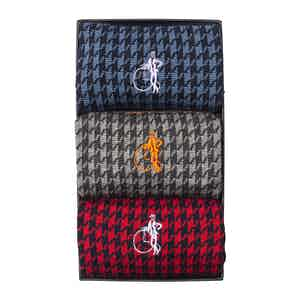 Jermyn St. Houndstooth Collection, 3 Pair Gift