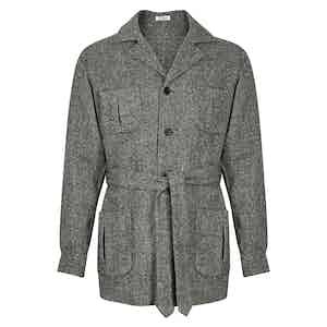 Grey Wool Sahariana