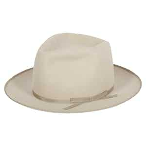 Diamond Crease Fedora in Silverbelly
