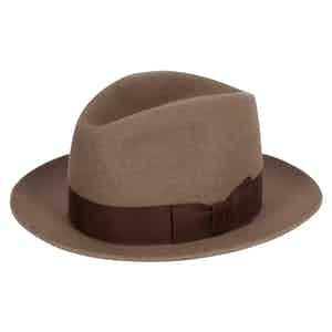 Center Crease Fedora in Natural