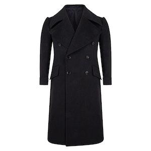 Navy Blue Wool Greatcoat