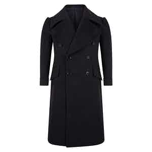 Navy Blue Wool Greatcoat
