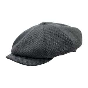 Charcoal Grey Herringbone Shelby Cap