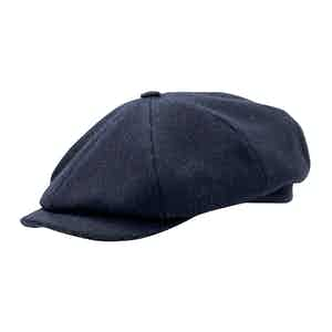 Navy Pinstripe Shelby Cap