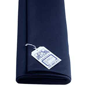 Classic Midnight Blue Fox Flannel Cloth