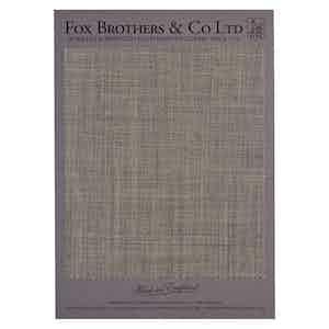 Fox Air Mid Grey Plain Weave Wool Cloth