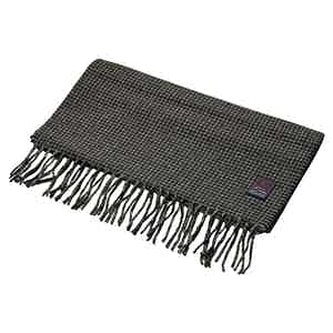 Fox Charcoal Houndstooth Cashmere and Merino Scarf
