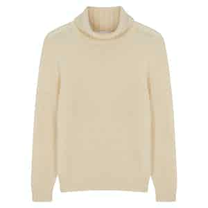 Milk Wool Cashmere Rollneck Jumper
