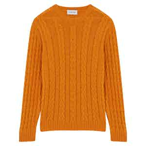 Mango Extra Fine Wool Cableknit Jumper