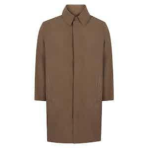 Dark Natural Regular Microfibre Raincoat