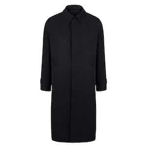 Navy Regular Microfibre Raincoat