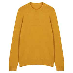 Yellow Wool Seamless Sweater