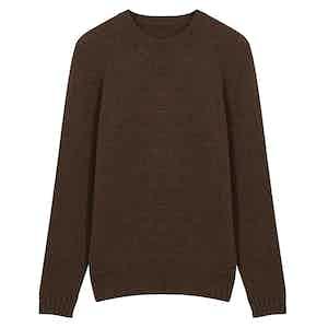 Chocolate Brown Wool Seamless Sweater