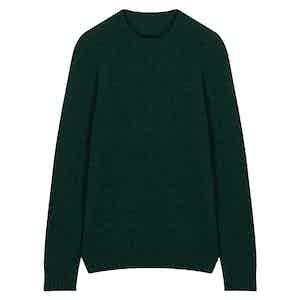 Dark Green Wool Seamless Sweater