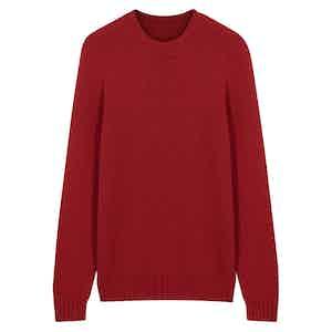 Red Wool Seamless Sweater
