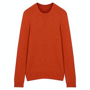Orange Wool Seamless Sweater