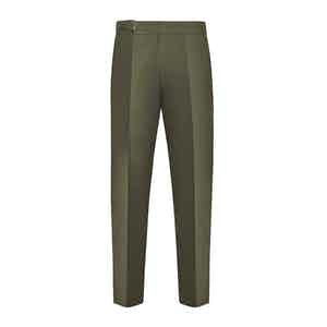 Green Cotton Genny Trouser