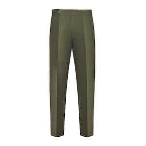 Green Cotton Genny Trouser