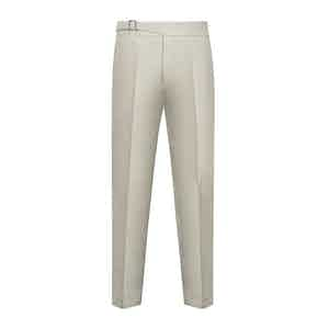 Beige Cotton Genny Trouser