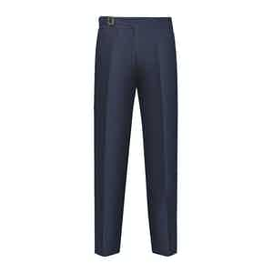 Blue Cotton Genny Trouser
