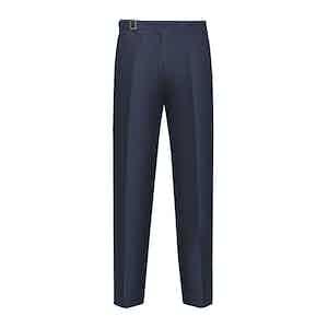 Blue Cotton Genny Trouser