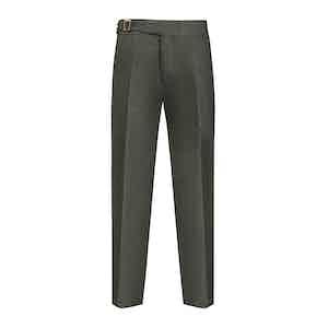 Green Flannel Genny Trouser