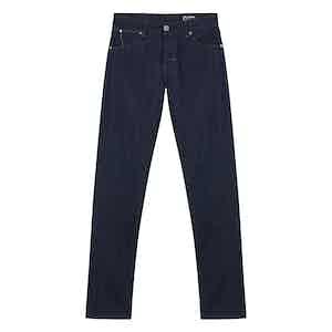 Dark Blue Cotton Denim Jeans