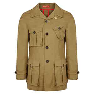 Drab Cotton Safari Jacket