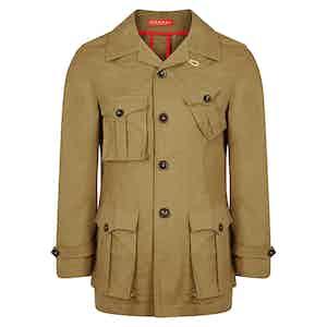 Drab Cotton Safari Jacket