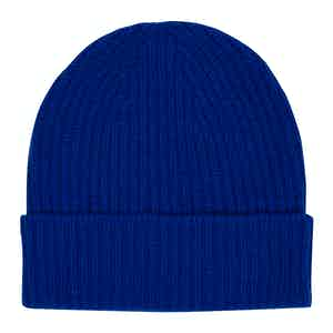 Royal Blue Cashmere Knit Beanie Hat