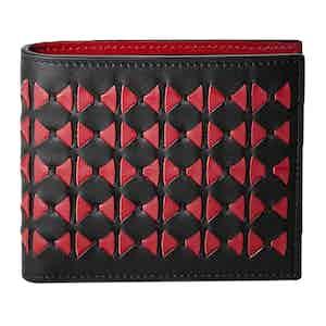 Black & Amaranth Mosaico Nappa Leather 8-Card Billfold